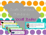 2011 South Carolina Social Studies Standards for Third Grade SC I Can Statements