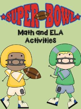 2016 Super Bowl Math & ELA Activities PRINT AND GO!
