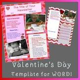VALENTINE Newsletter Template plus FREE FONT