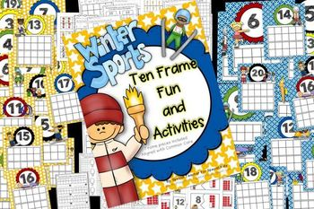 2014 Winter Games Ten Frame Fun Activities & Printables {Aligned w/ Common Core}