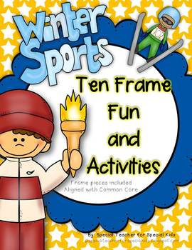 2018 Winter Olympics  Ten Frame Fun Activities & Printables