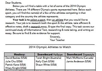2014 Winter Olympic Unit of Study