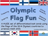 """2014 Winter Olympics: """"Fun with Flags"""" Math Task Cards"""