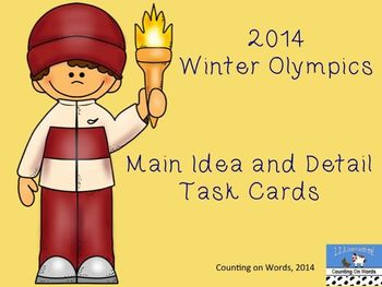 2014 Winter Olympics: Main Idea and Detail Task Cards