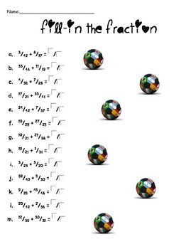 World Cup Soccer Math Worksheets