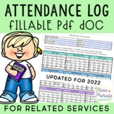 FILLABLE PDF Attendance Log