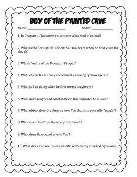 Large Novel Collection of Comprehension Questions