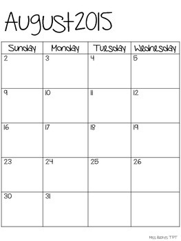 2015-16 Calendar