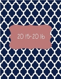 2015-16 Coral and Navy Teacher Binder Dividers