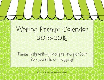 2015-16 Daily Writing Prompt Calendars