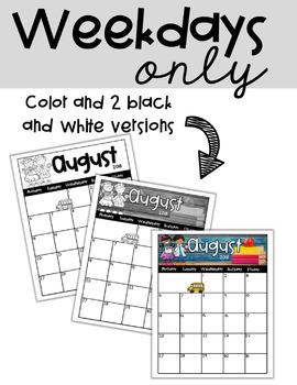 2017-2018 Editable Calendar **Updated**
