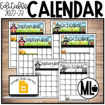 2016-2017 Editable Calendar **Updated**