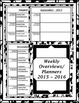2016-17 Monthly Calendars/Weekly Planning Maps Black and White Floral Border