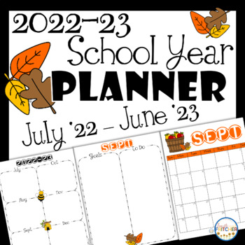 2019-2020 School Year Printable Calendar and Teacher Planner Pages FREEBIE
