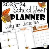 2021-2022 School Year Printable Calendar and Teacher Planner Pages FREEBIE