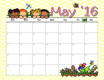 2015-16 School Year Printable Calendar