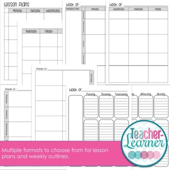 2016-2017 Teacher Binder and Forms - Pink Triangles