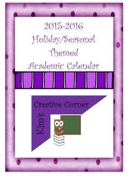 2015-2016 Academic Calendar