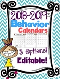 2017-2018 Behavior Calendars {EDITABLE}