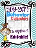 2018-2019 Behavior Calendars {EDITABLE}