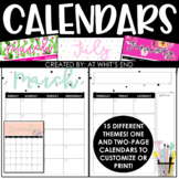 Editable 2017-2018 Calendar  {Perfect for your TEACHER BINDER!}