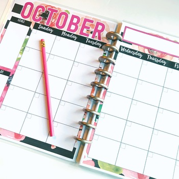 Editable 2017-2018 Calendar  {Perfect for your TEACHER BINDER!}