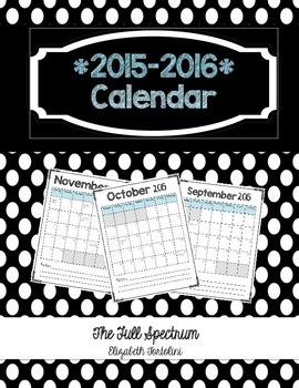 *2015-2016 Calendar*