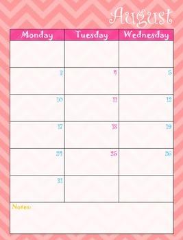 2015-2016 Calendar 2 page spread