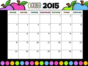 2015 - 2016 Calendar EDITABLE FREEBIE