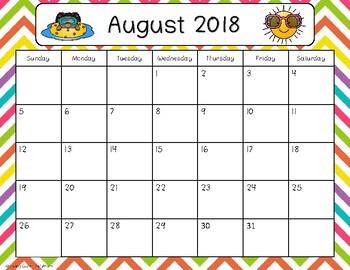 2016-2017 Calendar {Freebie}