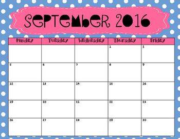 2016-2017 Calendar Set