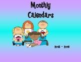 2015 - 2016 Calendar Set (Editable)