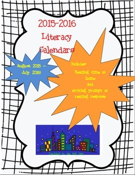 2015-2016 Calendar Writing Prompts