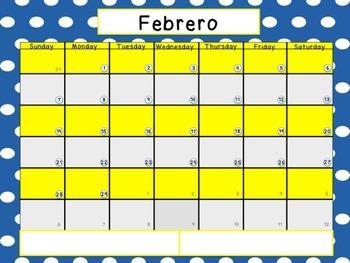 2015-2016 Calendar in Spanish