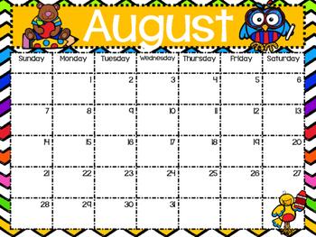 2016-2017 Chevron Calendar