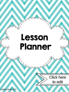Chevron EDITABLE Lesson Planner