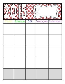 2015-2016 Curriculum Planner
