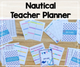 2018-2019 Teacher Binder/Lesson Planner (Nautical Theme)