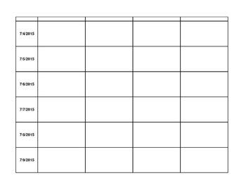 2015 - 2016 Digital Lesson Plan Template (Excel w/ Google Conversion)