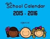2015 - 2016 Editable Calendar