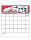 2015-2016 Editable School Year Calendar Pack (July - June)