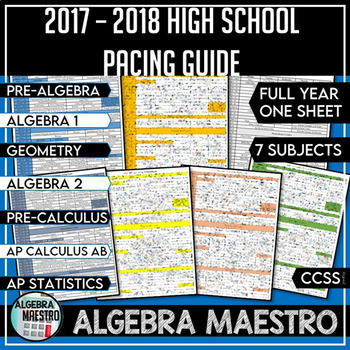 2016 - 2017 High School Math Common Core Pacing Guide