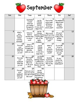 2015-2016 Journal Writing Prompts for the ENTIRE School Year