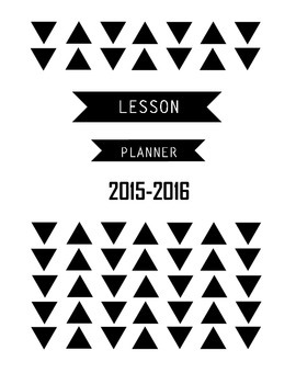 2015-2016 Lesson Planner Cover