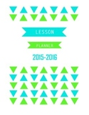 2015-2016 Lesson Planner Cover- Blue and Green