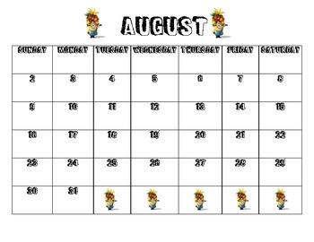 2015-2016 Minion Calendar