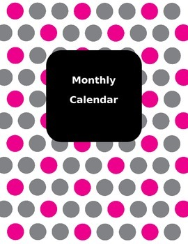2016 - 2017 Monthly Calendar