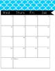 2017-2018 Monthly Calendar Blue Pattern