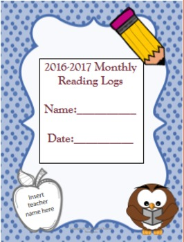 2016-2017 Monthly Reading Logs