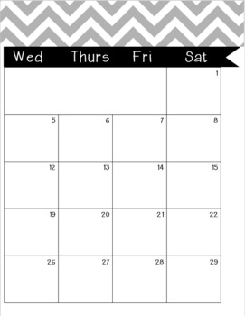 monthly weekly calendar